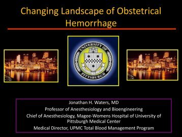 Changing Landscape of Obstetrical Hemorrhage