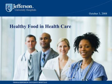 Healthy Food in Health Care