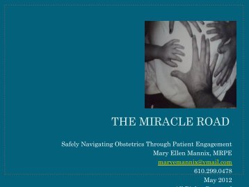 THE MIRACLE ROAD