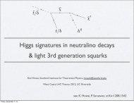 Higgs signatures in neutralino decays & light 3rd generation squarks