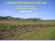 Four Decades of Diffraction