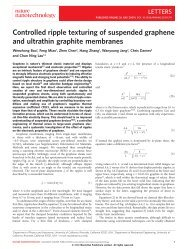 Controlled ripple texturing of suspended graphene and ultrathin ...