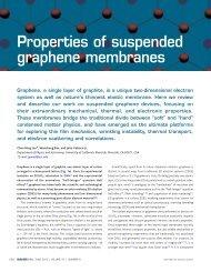 Properties of suspended graphene membranes