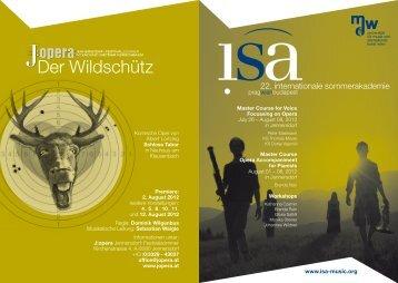 Der Wildschütz - J:opera