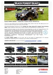BLACK FOREST QUAD ® - Yamaha Grizzly YFM 700