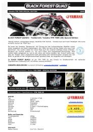 BLACK FOREST QUAD ® - Yamaha YFM 700R Special Edition (SE)