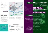 DNA Repair 2008 BERLIN - DGDR