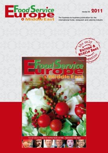 Media Information 2011 download - Food Service Europe