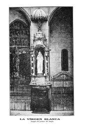 LA VÍRGEN BLANCA Imagen del pórtico del templo