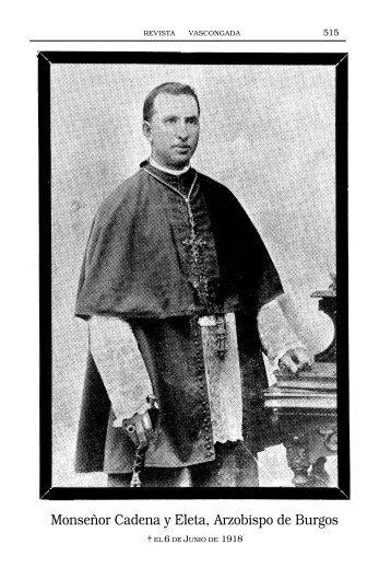 Monseñor Cadena y Eleta Arzobispo de Burgos