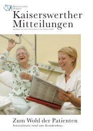 Innovationen rund ums Krankenhaus - bei der Kaiserswerther ...