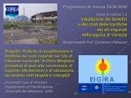 valutazione di progetti di bonifica dei siti inquinati - Corila