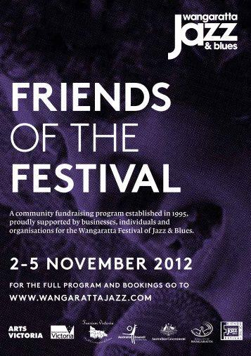 FRIENDS OF THE FESTIVAL - Wangaratta Jazz Festival