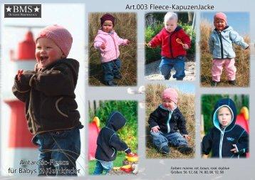 Art.003 Fleece-Kapuzenjacke