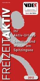 Freizeit Aktiv - VDES - Verband Deutscher Eisenbahner-Sportvereine