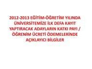 2011-2012 eğitim-öğretim yılı yaz dönemi ders seçimi hakkında ...