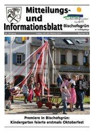 Das FGV-Buch 2012 - Gemeinde Bischofsgrün