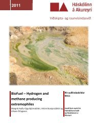 BioFuel – Hydrogen and methane producing extremophiles