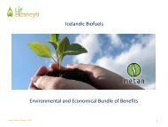 Icelandic Biofuels Environmental and Economical Bundle of Benefits
