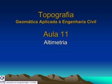 Aula11_Geomática Rodolfo_Altimetria.pdf - Laboratório de ...