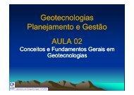 Geotecnologias Planejamento e Gestão AULA 02