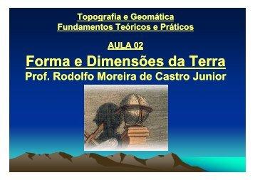 Forma e Dimensões da Terra - Laboratório de Topografia e ...
