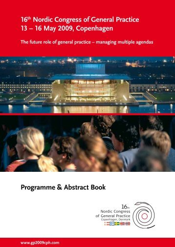 Programme & Abstract Book - 16th Nordic Congress of General ...