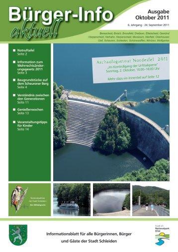 Ausgabe Oktober 2011 - Stadt Schleiden