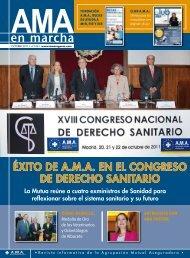 ÉXITO DE A.M.A EN EL CONGRESO DE DERECHO SANITARIO