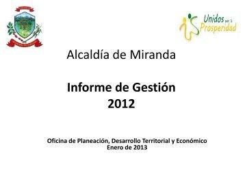 Alcaldía de Miranda Informe de Gestión 2012