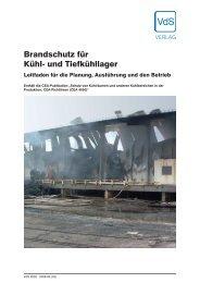 Brandschutz für Kühl- und Tiefkühllager - VdS