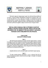 rregulloren komunale mbi plotësimin e kushteve minimale higjeno ...
