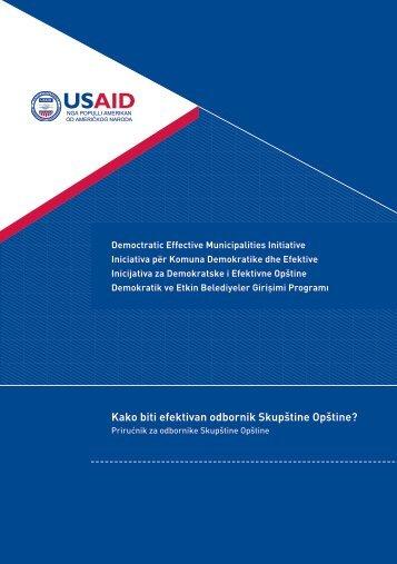 Kako biti efektivan odbornik Skupštine Opštine? - Demi USAID