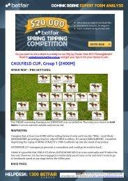 CAULFIELD CUP, Group 1 (2400M) - Betfair