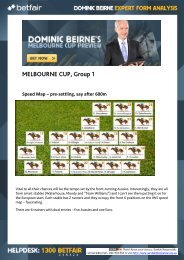 MELBOURNE CUP Group 1