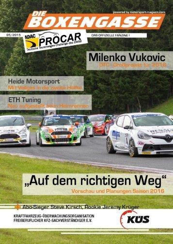 Die Boxengasse, Ausgabe Nr. 05 - Nürburgring - Saison 2015 (#27)