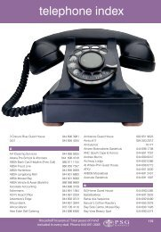 Download Telephone Index - Mossel Bay Business Finder