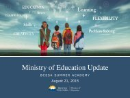 Ministry of Education Update