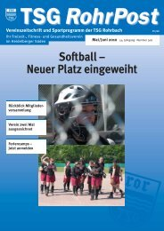 Mai/Juni 2010 - TSG Heidelberg-Rohrbach