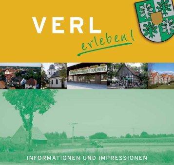 INFORMATIONEN UND IMPRESSIONEN - Stadt Verl