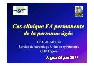 Cas clinique FA permanente de la personne âgée