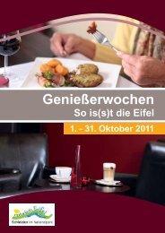 Programm Geniesser-Wochen - Eifeler Presse Agentur