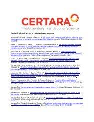 Pediatrics Publications in peer-reviewed journals - Certara