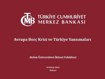 Avrupa Borç Krizi ve Türkiye Yansımaları