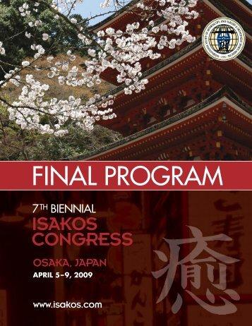 Final Program PDF - ISAKOS