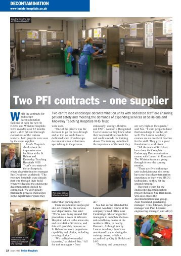 Two PFI contracts - one supplier