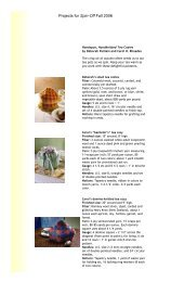 Projects for Spin-Off Fall 2006