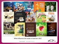What influences the reader in food ads 2012