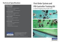 First Order System and PID Controller Training Kit