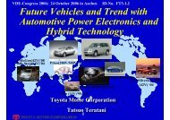 Future Vehicles and Trend with Automotive Power Electronics ... - VDE